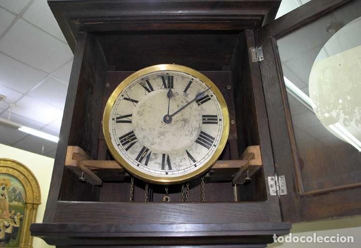 Relojes de pie: RELOJ ANTIGUO DE PIE CAJA DE MADERA TALLADA - Foto 7 - 120427187