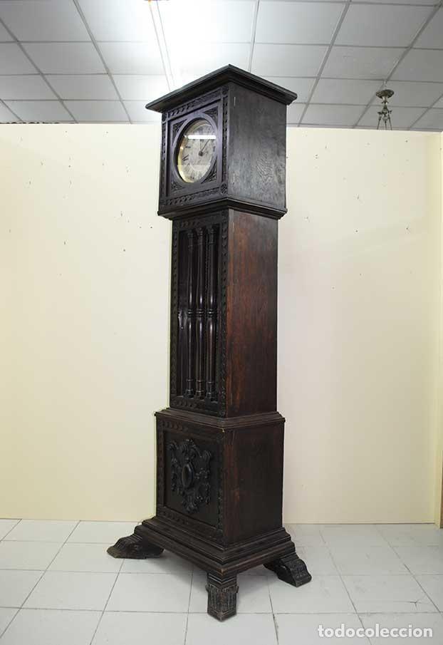Relojes de pie: RELOJ ANTIGUO DE PIE CAJA DE MADERA TALLADA - Foto 8 - 120427187