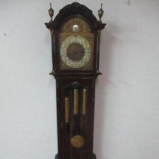 Relojes de pie: BONITO RELOJ DE PIE - CARRILLÓN - TEMPUS FUGIT - MADERA TALLADA - FUNCIONA - COMPLETO. Lote 130746213