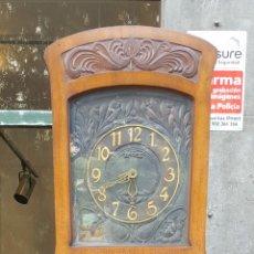Relojes de pie: RELOJ DE PIE. MUEBLE DE MADERA DE ROBLE. ESPAÑA. PRINCIPIOS DE SIGLO XX.. Lote 122060315