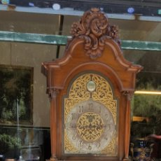 Relojes de pie: RELOJ DE PIE. MUEBLE EN MADERA DE RAÍZ. ESTILO BARROCO. DUWARD. ESPAÑA. CIRCA 1940.. Lote 122115819