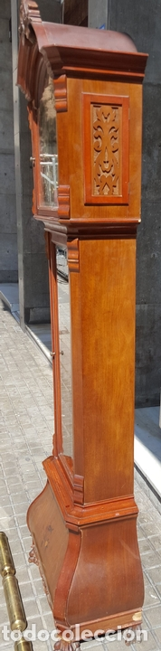 Relojes de pie: RELOJ DE PIE. MUEBLE EN MADERA DE RAÍZ. ESTILO INGLES. CIRCA 1950. - Foto 6 - 160352801