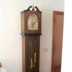 Relojes de pie: ANTIGUO RELOJ DE PIE ALEMÁN CON CAMPANADAS TIPO MELODÍA CATEDRAL CARILLON CON FASE LUNAR Y FUNCIONA. Lote 124445051