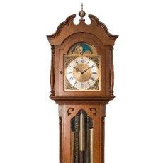 Relojes de pie: UN RELOJ DE PIE CON MADERA DE ROBLE MACIZA FUNCIONA CON CUERDA MANUAL , Y CON SONERÍA DE LOS CUARTOS. Lote 125197811