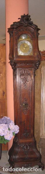 Relojes de pie: Espectacular reloj de una pesa, movimiento siglo XVI, caja XIX. Spectacular clock XVI - Foto 3 - 64613199