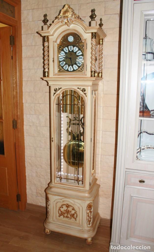 CARRILLÓN JUJO NUEVO - MADERA DE HAYA Y DECAPÉ ORO - CREACIONES MELIÁ - PIEZA EXCLUSIVA GRAN CALIDAD (Relojes - Pie Carga Manual)