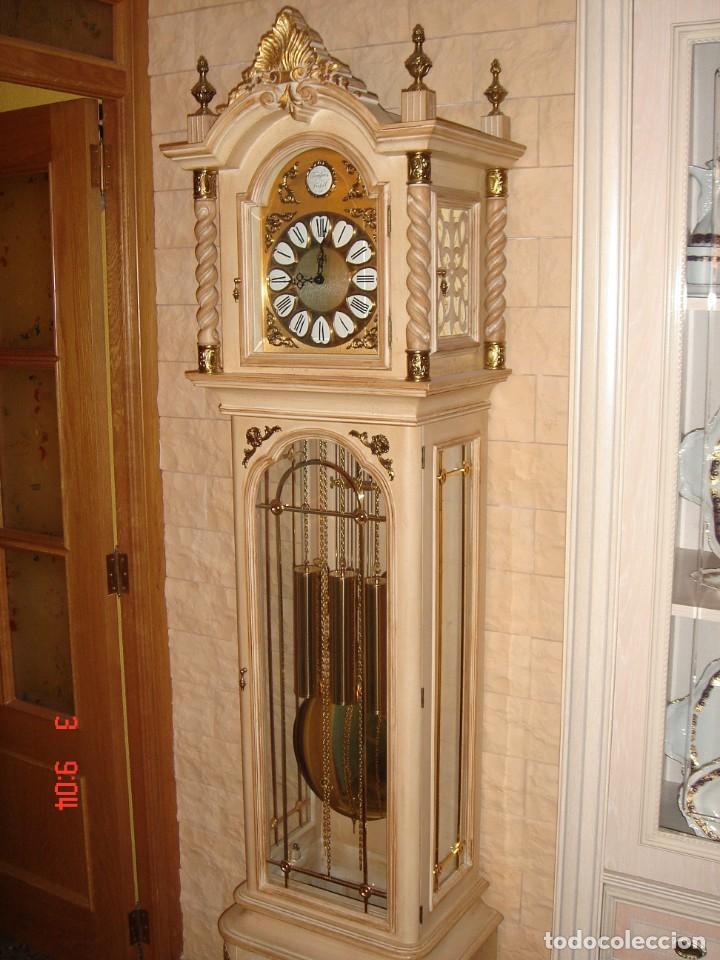 Relojes de pie: CARRILLÓN JUJO NUEVO - MADERA DE HAYA Y DECAPÉ ORO - CREACIONES MELIÁ - PIEZA EXCLUSIVA GRAN CALIDAD - Foto 4 - 129563571