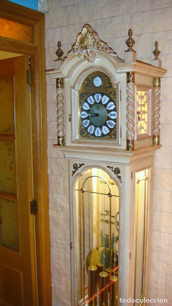 Relojes de pie: CARRILLÓN JUJO NUEVO - MADERA DE HAYA Y DECAPÉ ORO - CREACIONES MELIÁ - PIEZA EXCLUSIVA GRAN CALIDAD - Foto 5 - 129563571
