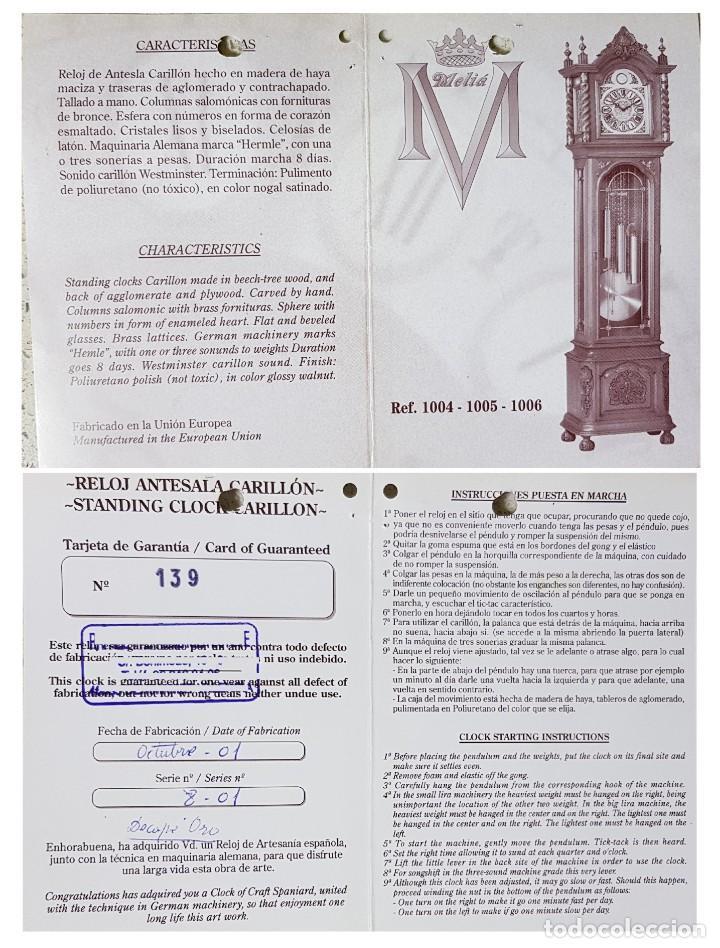Relojes de pie: CARRILLÓN JUJO NUEVO - MADERA DE HAYA Y DECAPÉ ORO - CREACIONES MELIÁ - PIEZA EXCLUSIVA GRAN CALIDAD - Foto 28 - 129563571
