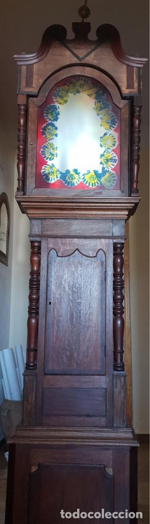 CAJA DE RELOJ GRANDFATHER, DEL 1800 APROXIMADAMENTE. (Relojes - Pie Carga Manual)