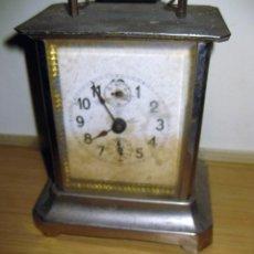 Relojes de pie: ANTIGUO RELOJ DE CARRUAJE JUNGANS . 14 / 6/ 8 CM NO FUNCIONA . VER FOTOS Y DESCRIPCION. Lote 130904068