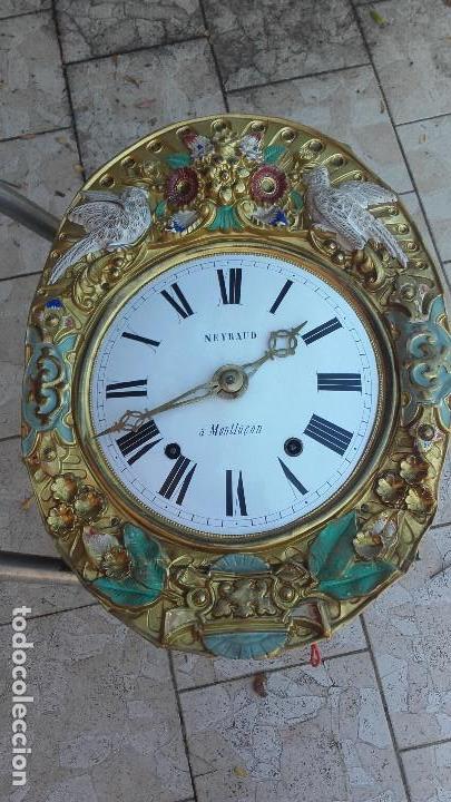Relojes de pie: Reloj Morez de época muy bien conservado - Foto 7 - 134238842
