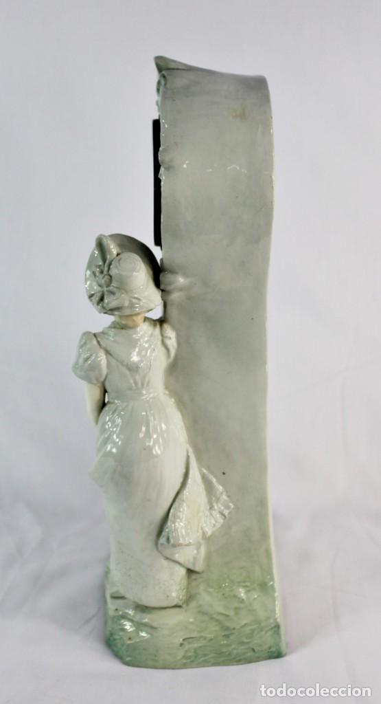 Relojes de pie: Bellísimo reloj en porcelana de pps s XX Art Nouveau - Foto 3 - 135394810