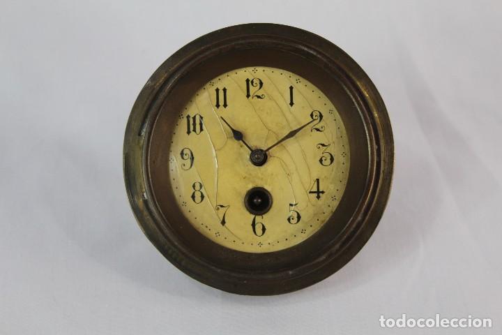 Relojes de pie: Bellísimo reloj en porcelana de pps s XX Art Nouveau - Foto 8 - 135394810