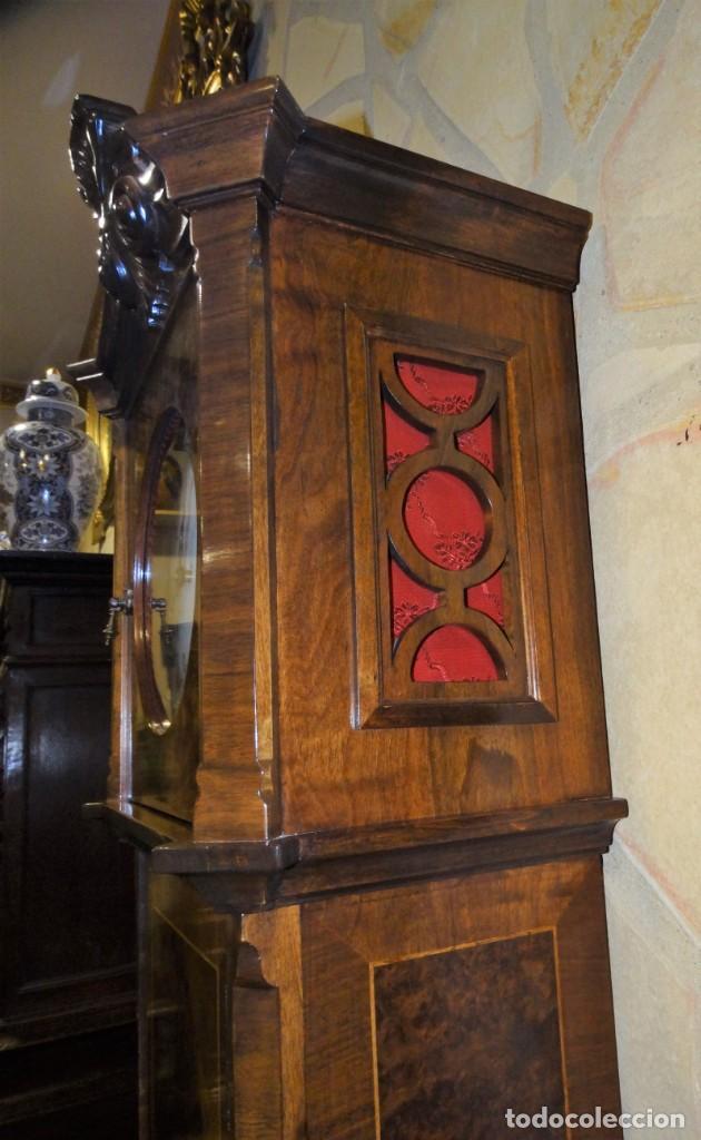 Relojes de pie: RELOJ DE PIE MADERA RAIZ NOGAL. MAQUINARIA DE CARRILLON. - Foto 6 - 137115822