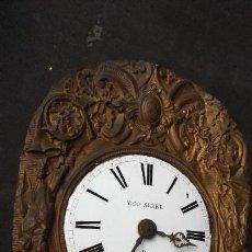 Relojes de pie: MECASNISMO COMPLETO DE RELOJ MOREZ, CON PÉNDULO, PESAS Y LLAVE. Lote 143598252