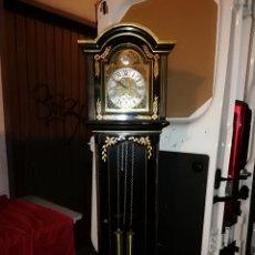 Relojes de pie: ESPECTACULAR RELOJ DE PIE 10 MARTILLOS 3 CUERDAS MADERA LACADA CON PINTURAS ORIENTAL IMPECABLE. Lote 143285906