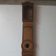 Relojes de pie: RELOJ DE PIE - CAJA DE RELOJ MOREZ - MADERA DE PINO, POLICROMADO - PINTADO A MANO - S. XIX. Lote 144417354