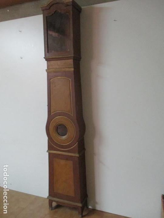 Relojes de pie: Reloj de Pie - Caja de Reloj Morez - Madera de Pino, Policromado - Pintado a Mano - S. XIX - Foto 2 - 144417354