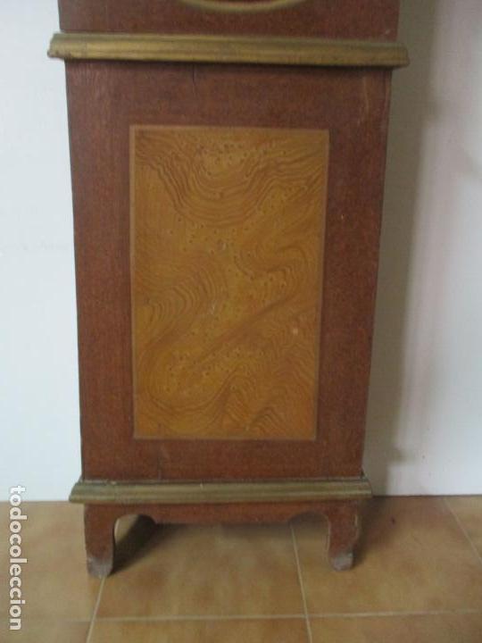 Relojes de pie: Reloj de Pie - Caja de Reloj Morez - Madera de Pino, Policromado - Pintado a Mano - S. XIX - Foto 4 - 144417354