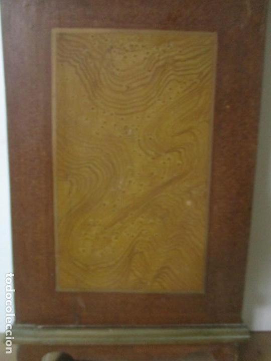 Relojes de pie: Reloj de Pie - Caja de Reloj Morez - Madera de Pino, Policromado - Pintado a Mano - S. XIX - Foto 5 - 144417354
