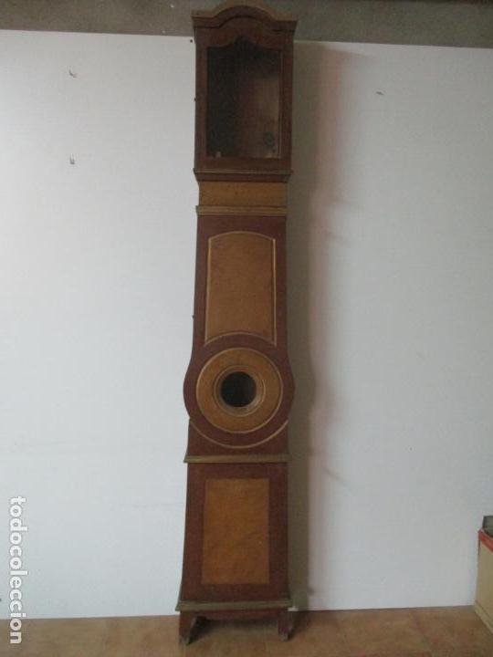 Relojes de pie: Reloj de Pie - Caja de Reloj Morez - Madera de Pino, Policromado - Pintado a Mano - S. XIX - Foto 7 - 144417354