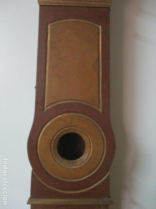 Relojes de pie: Reloj de Pie - Caja de Reloj Morez - Madera de Pino, Policromado - Pintado a Mano - S. XIX - Foto 8 - 144417354