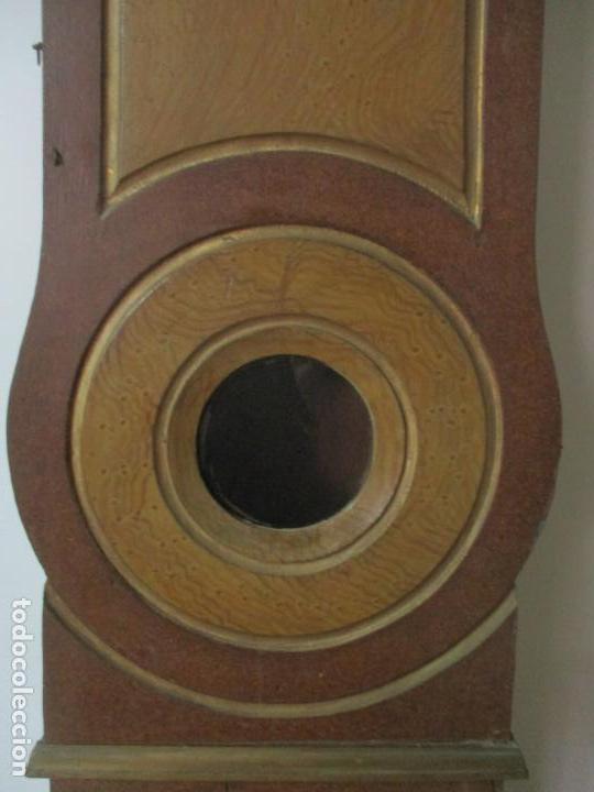 Relojes de pie: Reloj de Pie - Caja de Reloj Morez - Madera de Pino, Policromado - Pintado a Mano - S. XIX - Foto 9 - 144417354