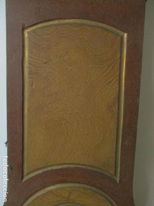 Relojes de pie: Reloj de Pie - Caja de Reloj Morez - Madera de Pino, Policromado - Pintado a Mano - S. XIX - Foto 10 - 144417354