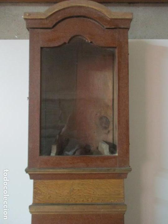 Relojes de pie: Reloj de Pie - Caja de Reloj Morez - Madera de Pino, Policromado - Pintado a Mano - S. XIX - Foto 12 - 144417354