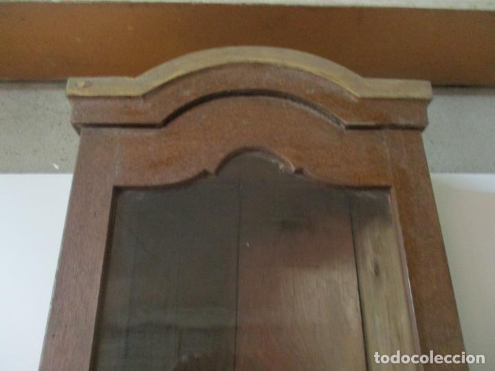 Relojes de pie: Reloj de Pie - Caja de Reloj Morez - Madera de Pino, Policromado - Pintado a Mano - S. XIX - Foto 13 - 144417354