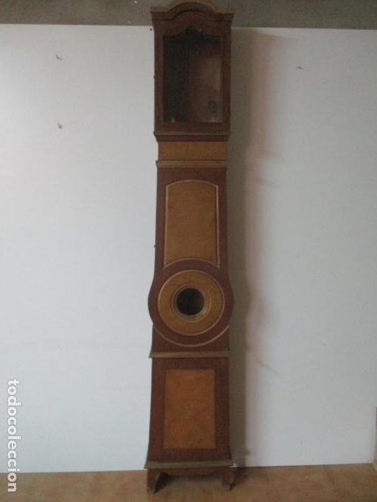 Relojes de pie: Reloj de Pie - Caja de Reloj Morez - Madera de Pino, Policromado - Pintado a Mano - S. XIX - Foto 14 - 144417354