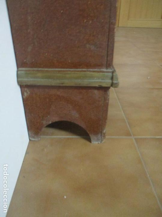 Relojes de pie: Reloj de Pie - Caja de Reloj Morez - Madera de Pino, Policromado - Pintado a Mano - S. XIX - Foto 16 - 144417354