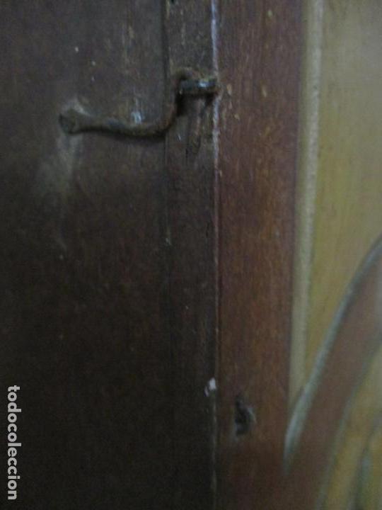 Relojes de pie: Reloj de Pie - Caja de Reloj Morez - Madera de Pino, Policromado - Pintado a Mano - S. XIX - Foto 18 - 144417354