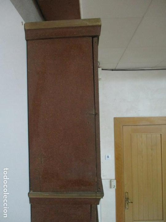 Relojes de pie: Reloj de Pie - Caja de Reloj Morez - Madera de Pino, Policromado - Pintado a Mano - S. XIX - Foto 19 - 144417354
