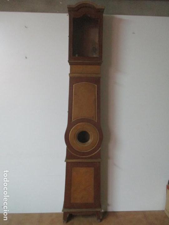 Relojes de pie: Reloj de Pie - Caja de Reloj Morez - Madera de Pino, Policromado - Pintado a Mano - S. XIX - Foto 21 - 144417354
