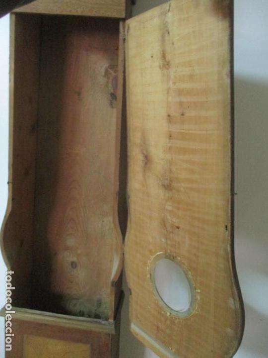 Relojes de pie: Reloj de Pie - Caja de Reloj Morez - Madera de Pino, Policromado - Pintado a Mano - S. XIX - Foto 22 - 144417354