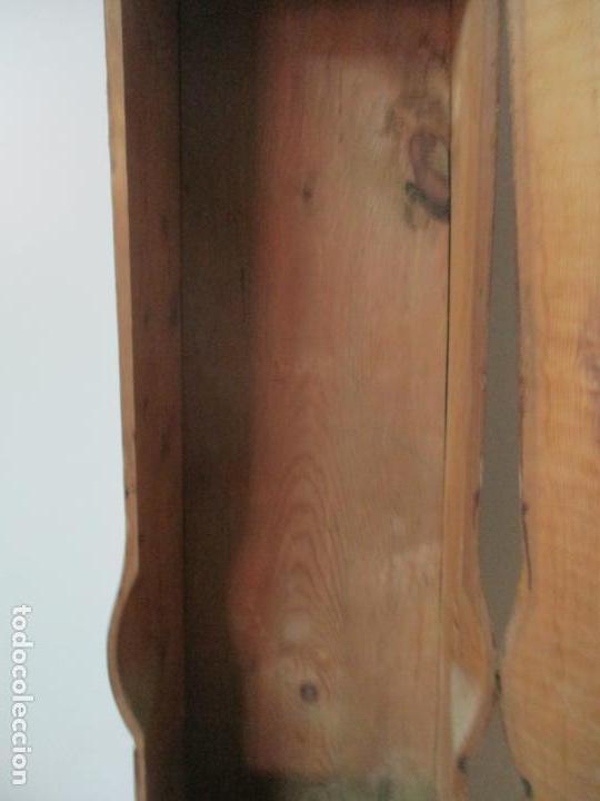 Relojes de pie: Reloj de Pie - Caja de Reloj Morez - Madera de Pino, Policromado - Pintado a Mano - S. XIX - Foto 23 - 144417354