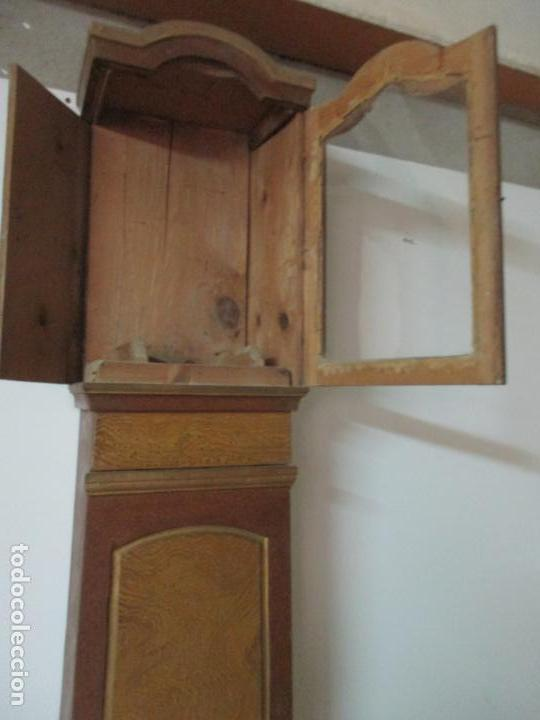 Relojes de pie: Reloj de Pie - Caja de Reloj Morez - Madera de Pino, Policromado - Pintado a Mano - S. XIX - Foto 25 - 144417354