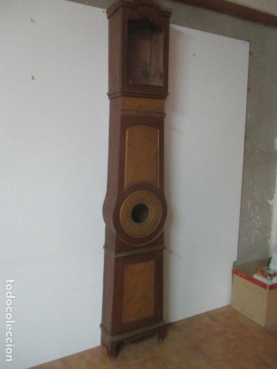 Relojes de pie: Reloj de Pie - Caja de Reloj Morez - Madera de Pino, Policromado - Pintado a Mano - S. XIX - Foto 28 - 144417354