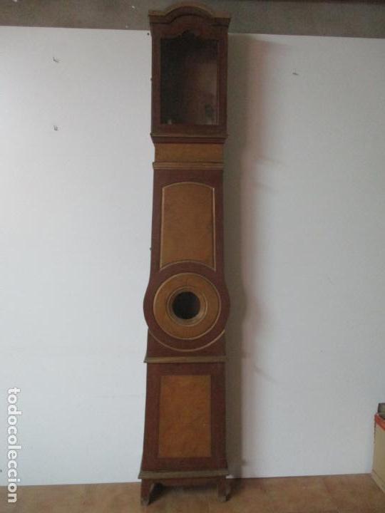 Relojes de pie: Reloj de Pie - Caja de Reloj Morez - Madera de Pino, Policromado - Pintado a Mano - S. XIX - Foto 29 - 144417354