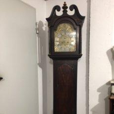 Relojes de pie: ANTIGUO RELOJ INGLÉS DE PIE - SIGLO XVIII - FUNCIONANDO. Lote 143546901