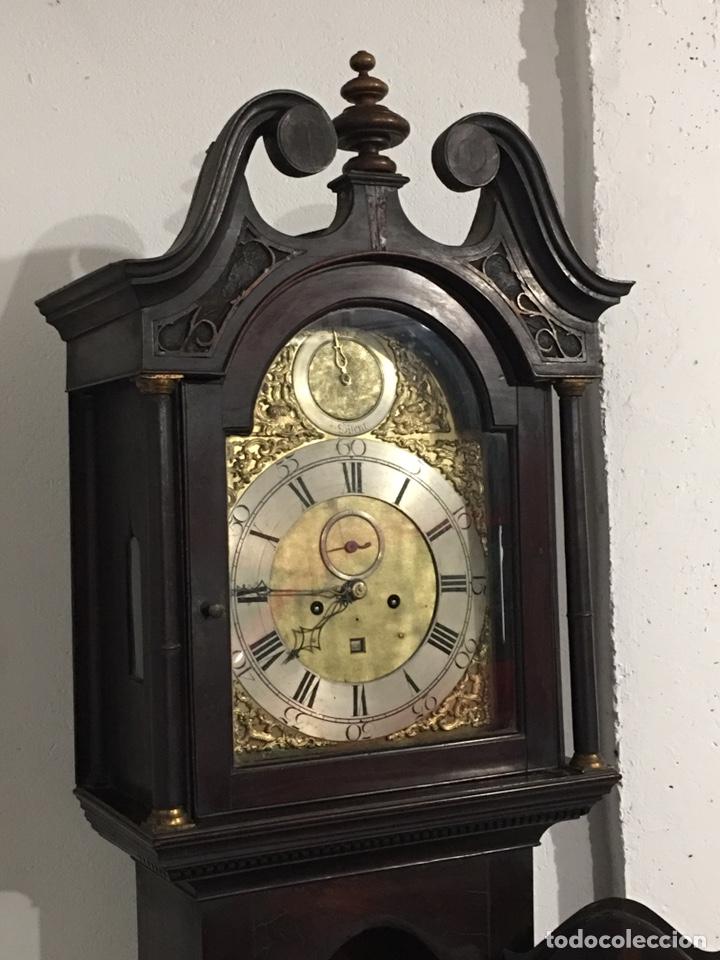 Relojes de pie: ANTIGUO RELOJ INGLÉS DE PIE - SIGLO XVIII - FUNCIONANDO - Foto 2 - 143546901