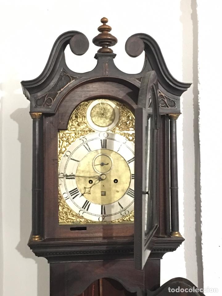 Relojes de pie: ANTIGUO RELOJ INGLÉS DE PIE - SIGLO XVIII - FUNCIONANDO - Foto 3 - 143546901