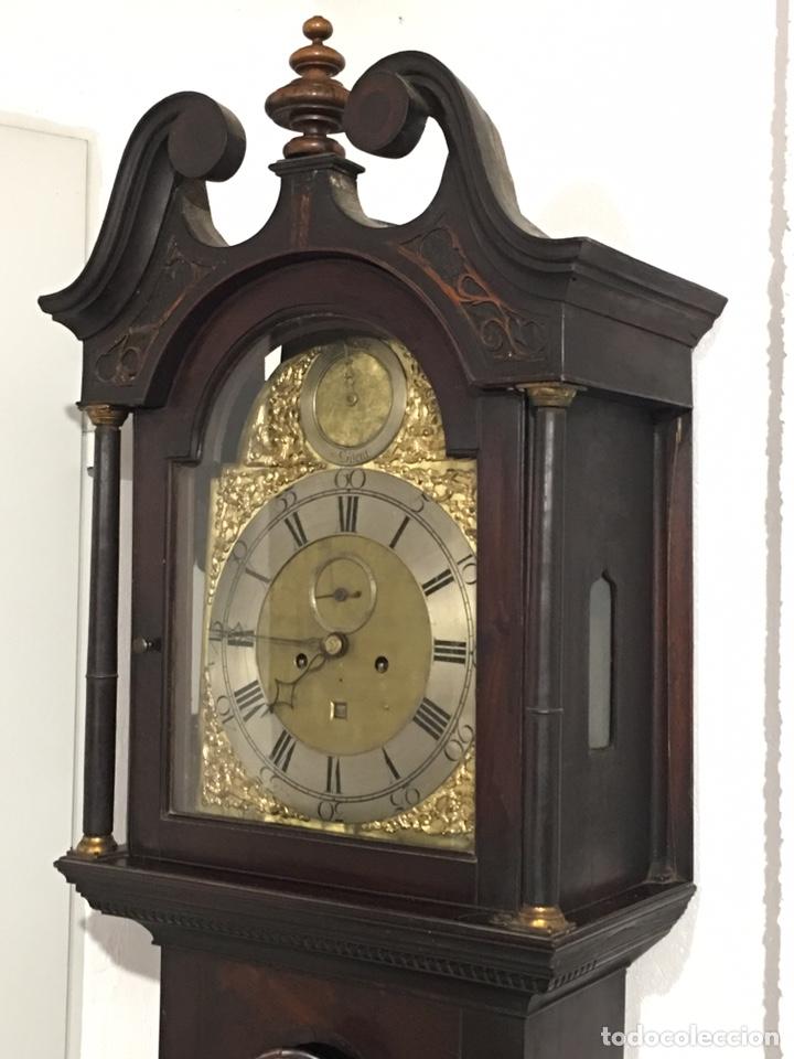 Relojes de pie: ANTIGUO RELOJ INGLÉS DE PIE - SIGLO XVIII - FUNCIONANDO - Foto 8 - 143546901