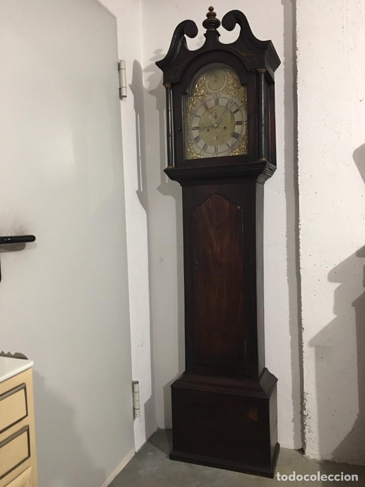 Relojes de pie: ANTIGUO RELOJ INGLÉS DE PIE - SIGLO XVIII - FUNCIONANDO - Foto 10 - 143546901