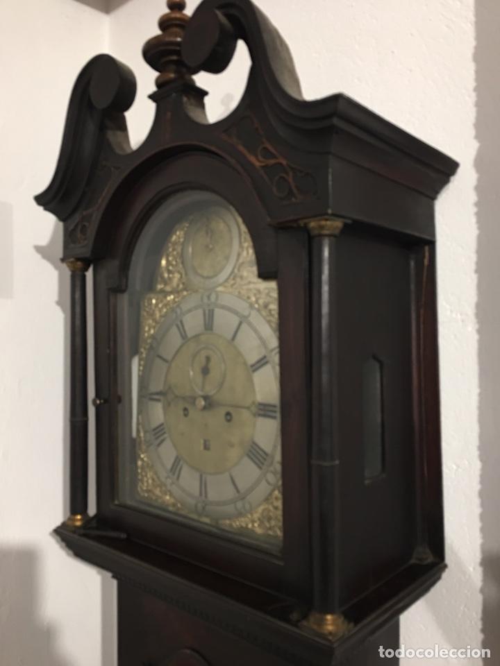 Relojes de pie: ANTIGUO RELOJ INGLÉS DE PIE - SIGLO XVIII - FUNCIONANDO - Foto 14 - 143546901