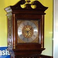 Relojes de pie: RELOJ PENDULO DE PIE BUEN ESTADO MAQUINARIA ORIGINAL-190X27X20 CM. APROX BUEN ESTADO MADERA. Lote 147151654