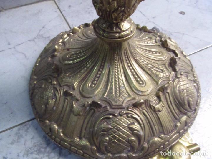 Relojes de pie: RELOJ CLÁSICO DE PIE HECHO EN BRONCE, DE CARGA MANUAL - MEDIDA 52 x 24 cm. - Foto 5 - 150749350