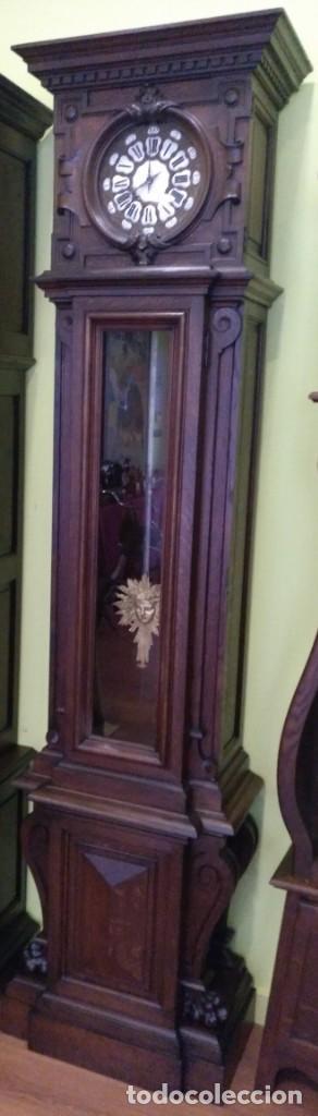Relojes de pie: ANTIGUO RELOJ DE PIE LOUIS XV DEL SIGLO XIX EN MADERA DE ROBLE FUNCIONANDO. - Foto 2 - 154860482